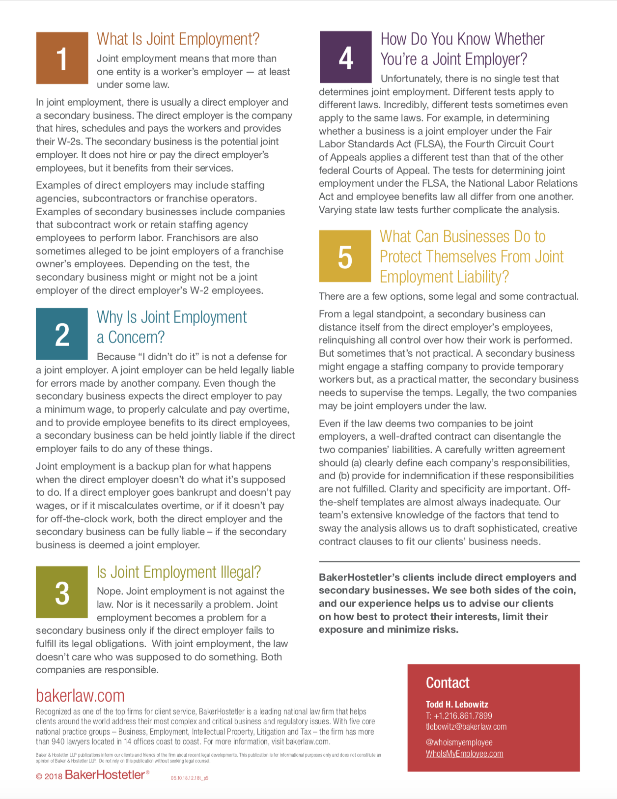 Five things You Should Know About Joint employment - page 1 screenshot