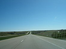 Interstate 94 in North Dakota near Gladstone