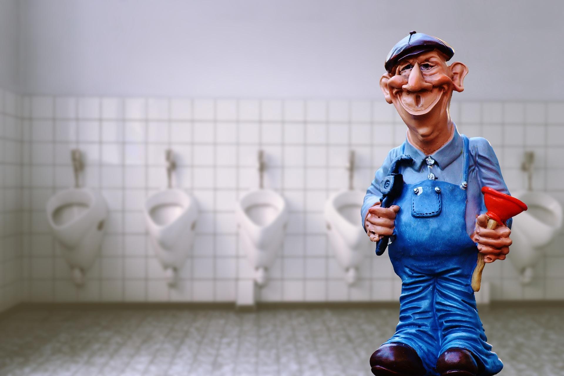 toilet gig workers plumber