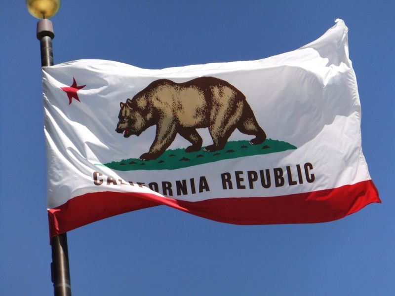 CA flag pole